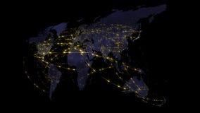 3D que rende o sumário da rede do mundo, do Internet e do conceito global da conexão Elementos desta imagem fornecidos pela NASA Fotos de Stock