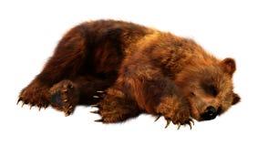 3D que rende o urso de Brown no branco imagem de stock royalty free