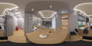 3d que rende os 360 graus esféricos, panorama sem emenda da vida Foto de Stock Royalty Free