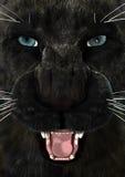 3D que rende a pantera preta Fotos de Stock