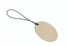 3D que rende a placa oval na corda Imagens de Stock