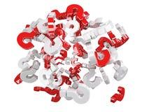 3D que rende pontos de interrogação Imagem de Stock