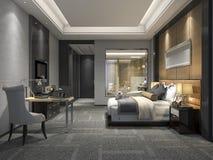 3d que rende a série e o banheiro luxuosos modernos de quarto Fotos de Stock