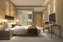 3d que rende a série e o banheiro luxuosos modernos de quarto Fotografia de Stock