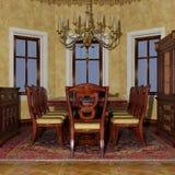 3D que rende a sala de jantar vitoriano Foto de Stock
