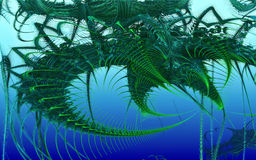 3D que rende um animal subaquático incrível Fotografia de Stock Royalty Free