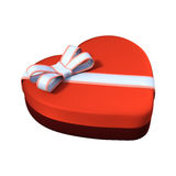 3D que rende Valentine Chocolate Box no branco Fotografia de Stock Royalty Free
