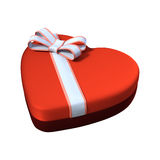 3D que rende Valentine Chocolate Box no branco Foto de Stock Royalty Free