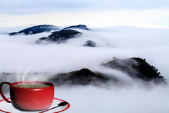 3d que rende a xícara de café Foto de Stock