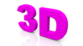 3D que rendem 3D roxo exprimem isolado no fundo branco Foto de Stock