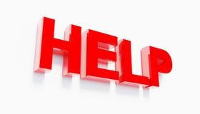 3d que rinde ayuda roja animada de las letras Imagen de archivo libre de regalías
