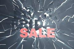 3D que rinde Black Friday, mensaje de la venta para la tienda Bandera de la tienda de la lupulización del negocio para Black Frid Fotografía de archivo libre de regalías