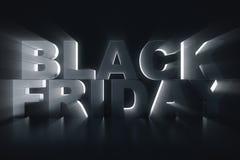 3D que rinde Black Friday, mensaje de la venta para la tienda Bandera de la tienda de la lupulización del negocio para Black Frid Imágenes de archivo libres de regalías