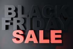 3D que rinde Black Friday, mensaje de la venta para la tienda Bandera de la tienda de la lupulización del negocio para Black Frid Foto de archivo libre de regalías