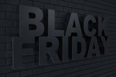3D que rinde Black Friday, mensaje de la venta para la tienda Bandera de la tienda de la lupulización del negocio para Black Frid Fotos de archivo libres de regalías