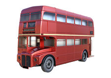 3D que rinde el doble Decker Bus de Londres en blanco ilustración del vector