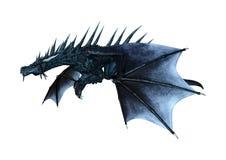 3D que rinde el dragón del cuento de hadas en blanco Imagen de archivo libre de regalías