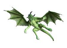 3D que rinde el dragón del cuento de hadas en blanco Fotografía de archivo