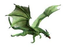 3D que rinde el dragón del cuento de hadas en blanco Imagenes de archivo