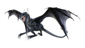 3D que rinde el dragón del cuento de hadas en blanco Foto de archivo libre de regalías