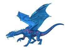 3D que rinde el dragón del cuento de hadas en blanco stock de ilustración
