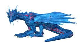 3D que rinde el dragón del cuento de hadas en blanco ilustración del vector