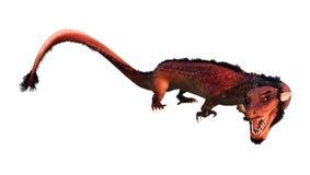 3D que rinde el dragón del este en blanco Imágenes de archivo libres de regalías