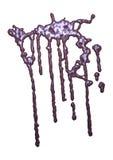 3D que rinde el goteo abstracto del chocolate en blanco Imágenes de archivo libres de regalías