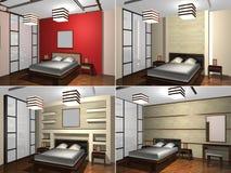 Dormitorio de Childs, representación 3D Foto de archivo