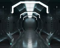 3D que rinde elementos de esta imagen suministrados, interior blanco de la nave espacial, túnel, pasillo, vestíbulo ilustración del vector