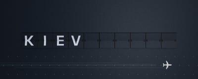 3D que rinde a Flip Board Capital Kiev ilustración del vector