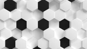 3d que rinde hexágono de la geometría de diseño del movimiento stock de ilustración
