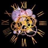 3D que rinde un reloj, el concepto de tiempo y el universo foto de archivo libre de regalías