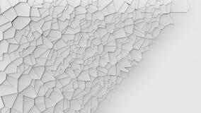 3d que rompe el fondo blanco de la pared Fotografía de archivo libre de regalías