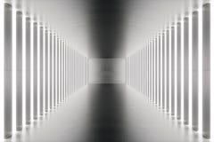 3D que torna a sala abstrata interior com luzes de néon Fundo futurista da arquitetura Modelo para seu projeto Foto de Stock