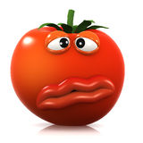 3d Queasy tomato Stock Photography
