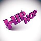 3d quebrou a palavra do hip-hop do vetor criada com as refrações Dimen ilustração royalty free