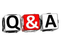 3D Question & Answer. On white background Royalty Free Stock Photos
