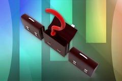 3d question mark business bag illustration Stock Image