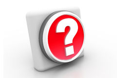 3d  question mark button Stock Images