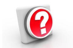 3d  question mark button. 3d  illustration of question mark button Stock Images