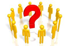 3D question mark concept Royalty Free Stock Photography
