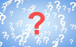 3d question mark with depth of field Royalty Free Stock Photo