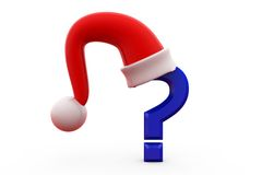 3d question mark with hat concept Royalty Free Stock Images