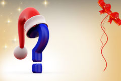 3d question mark with hat illustration Stock Photo