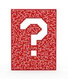 3d question mark maze Stock Photos