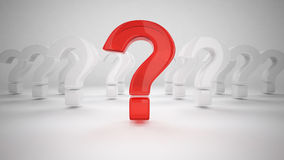 3D Question Mark Stock Images