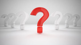 3D Question Mark Stock Photography