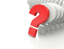 3d question marks background Stock Images