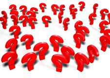 3d question marks illustration. A 3d illustration of some question marks made in software 3d Stock Photo